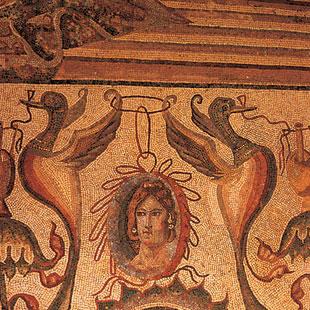 Villas romanas palentinas, mosaicos multicolores